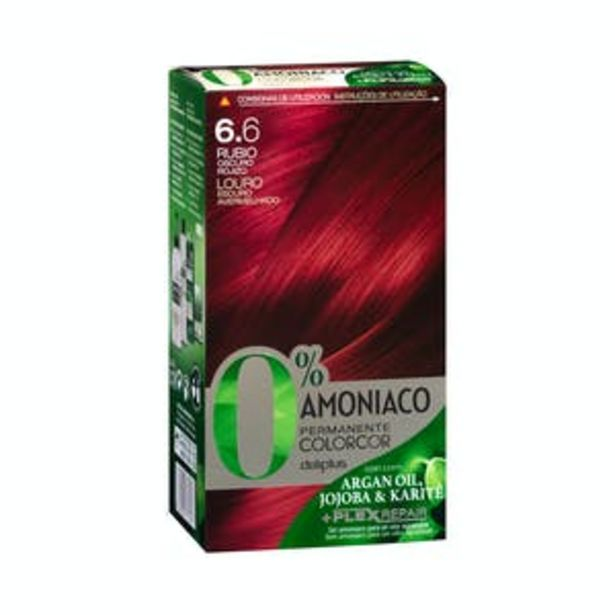 Oferta de Coloración permanente 0% amoníaco Deliplus 6.6 rubio oscuro rojizo por 3,9€