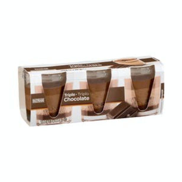 Oferta de Postre triple chocolate Hacendado por 2,4€