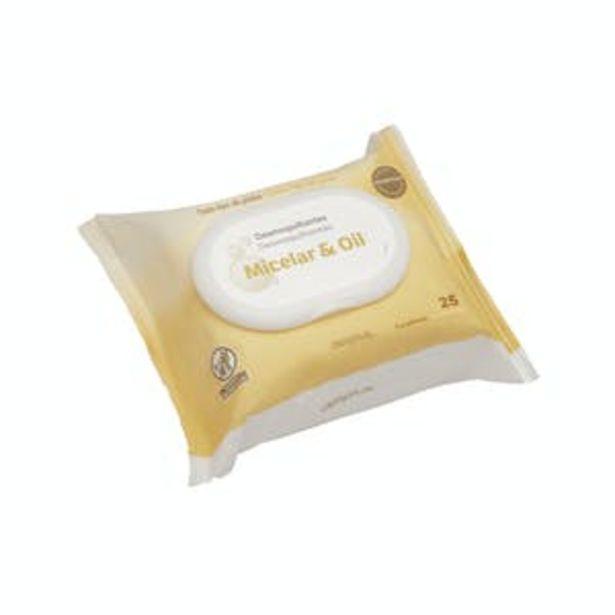 Oferta de Toallitas desmaquillantes Micelar & Oil Deliplus para todo tipo de pieles por 1,35€