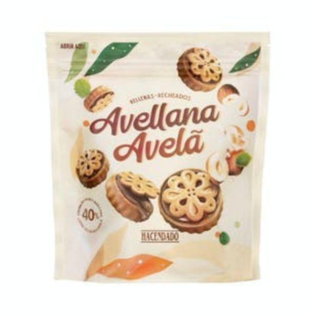 Oferta de Galletas rellenas con crema de cacao y avellanas Hacendado por 1,2€