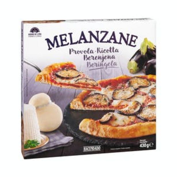 Oferta de Pizza Melanzane Hacendado congelada por 2,2€