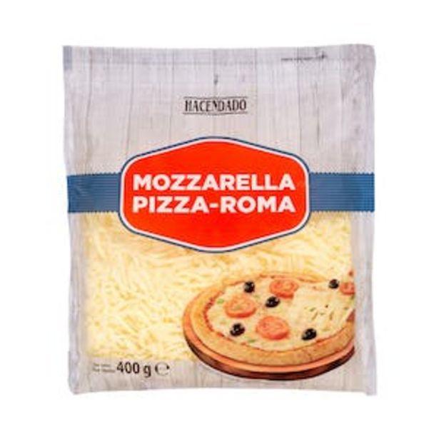 Oferta de Queso rallado mozzarella Hacendado pizza-Roma por 1,8€