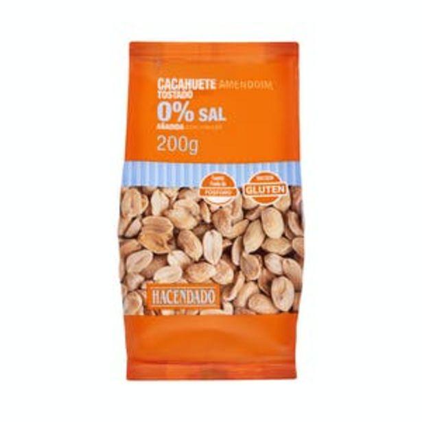 Oferta de Cacahuete tostado Hacendado 0% sal añadida pelada por 1€
