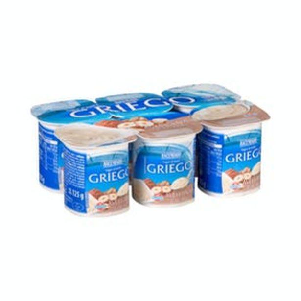 Oferta de Yogur griego con cacao y avellanas Hacendado por 1,55€