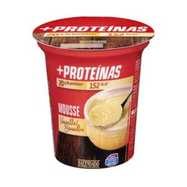 Oferta de Mousse + proteínas sabor vainilla Hacendado por 1,35€