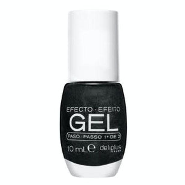 Oferta de Laca de uñas efecto gel Deliplus 107 negro perlado por 2,65€