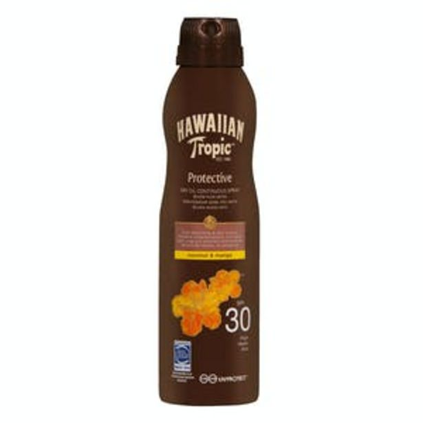 Oferta de Protector solar bruma Protective Coco & Mango Hawaiian Tropic FPS 30 por 10€