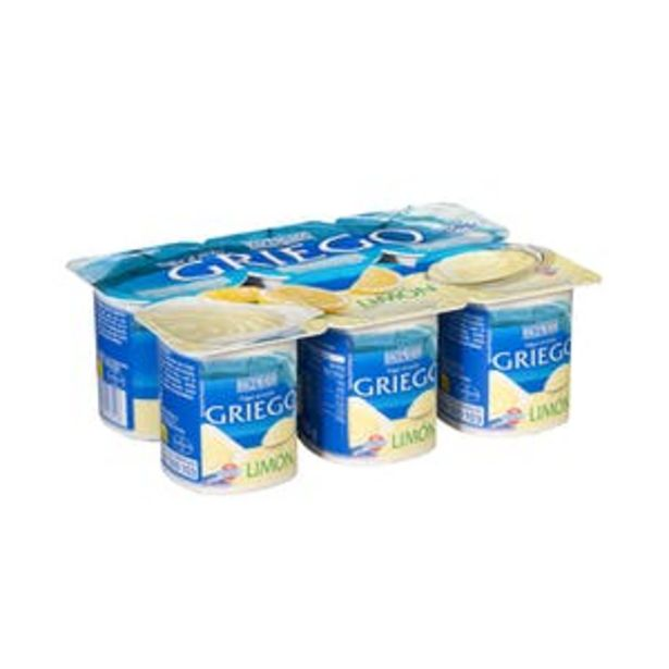 Oferta de Yogur griego sabor limón Hacendado por 1,3€
