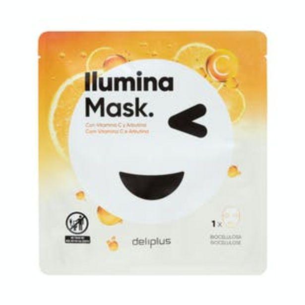 Oferta de Mascarilla facial Ilumina Mask Deliplus con vitamina C y Arbutina por 2,1€