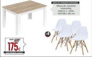 Oferta de Conjunto mesa y sillas por 175€