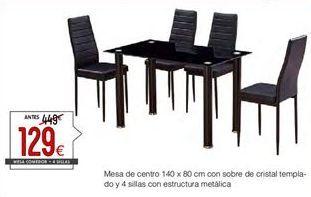 Oferta de Conjunto mesa y sillas por 129€