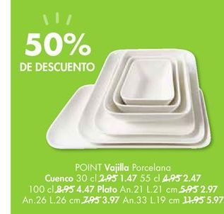 Oferta de Vajilla de porcelana POINT por 1,47€