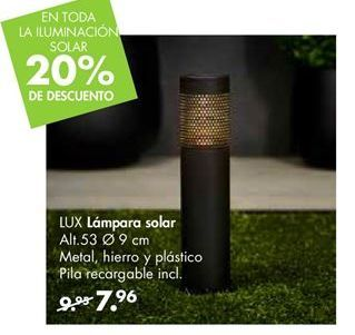 Oferta de Lámpara solar LUX por 7,96€