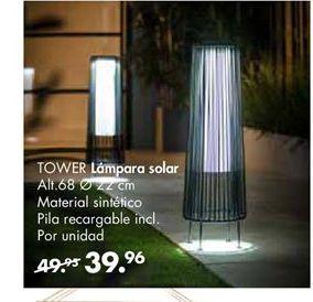 Oferta de Lámpara solar TOWER por 39,95€