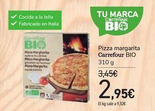 Oferta de Pizza margarita Carrefour bio por 2,95€