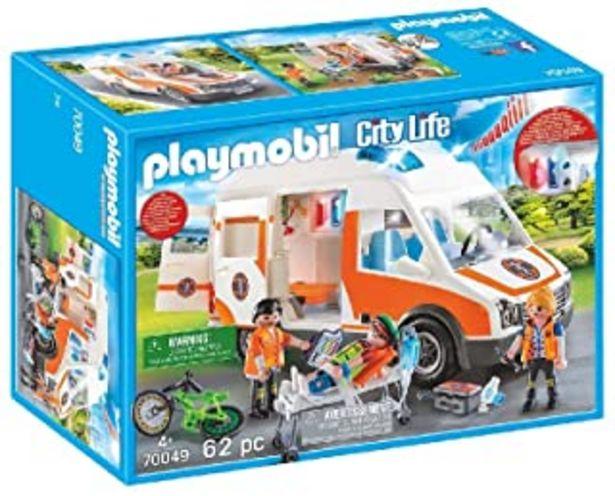 Oferta de PLAYMOBIL City Life Ambulancia con Luces y Sonido, A partir de 4 años (70049) por 39,99€