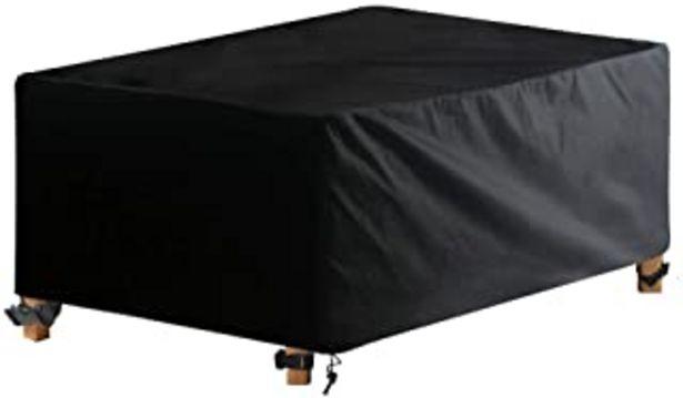 Oferta de AWNIC Funda Mesa Jardín Funda Muebles Patio Terraza Impermeable Tela Oxford Resistente al Desgarro 210X120X71cm por 27,99€