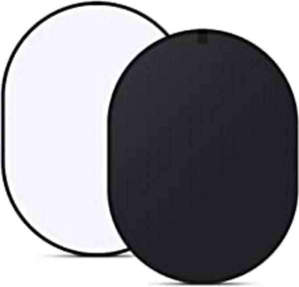 Oferta de Neewer 10087547 - 150 cm x 200 cm doble cara Twist Pop Out muselina telón de fondo fondo panel con funda de transporte para fotografía Studio grabación de vídeo (negro/blanco) por 28,11€
