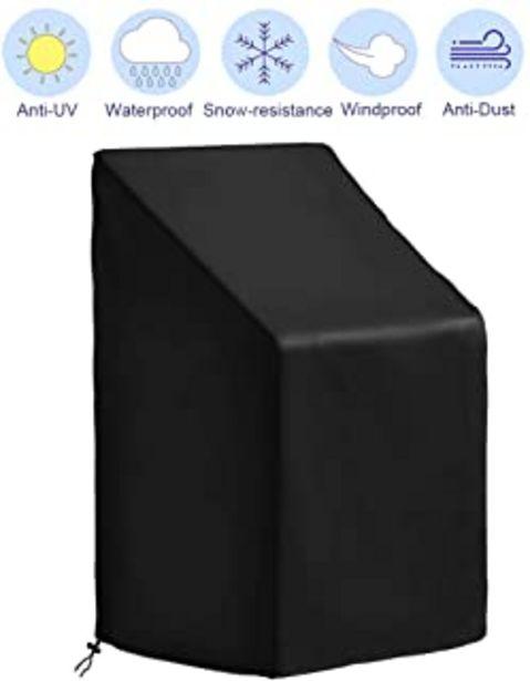 Oferta de CYWEB Funda Sillas Apilables Jardin, Impermeable Cubierta Protectora para Sillas de Exterior Balcón Anti-UV Tela Oxford 42... por 17,97€
