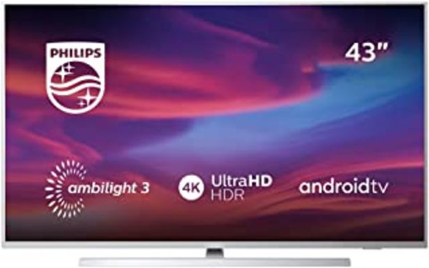 Oferta de Televisor Philips Ambilight 43PUS7304/12 Smart TV de 108 cm (43 pulgadas) con 4K UHD, LED TV, HDR 10+, Android TV, Google ... por 489,99€
