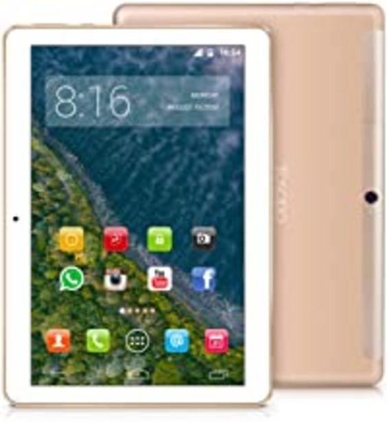 Oferta de TOSCIDO 4G LTE Tablet 10 Pulgadas - Android 9.0 Certificado por Google GMS,4GB RAM,64GB ROM,Octa Core 2GHz CPU de Alta Velocidad,Doule Sim,WiFi,Doble Altavoz Estéreo - Oro por 125,98€