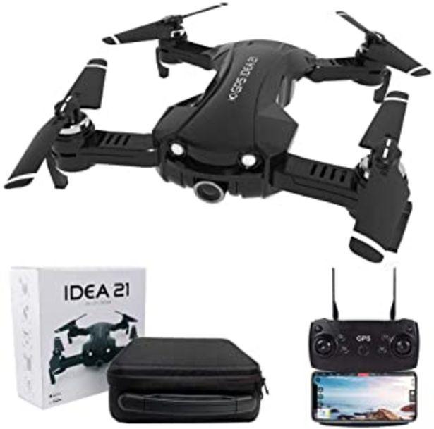Oferta de Le-idea IDEA21 Drone con Camara HD, 4K Drones con Camara Profesional Estabilizador GPS, 5G WiFi FPV Drone Tiempo Real, Largo Tiempo de Vuelo Drone 16 Minutos Drone Plegable RC por 142,19€