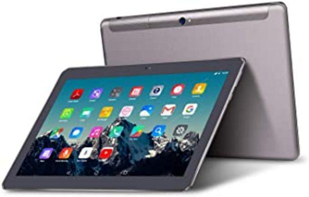 Oferta de Tablet 10 Pulgadas 4G LTE Dual Sim - TOSCIDO Android 9.0 Certificado por Google GMS, Quad Core,64GM ROM,4GB RAM,Doble Altavoz Estéreo,WiFi/Bluetooth/GPS/OTG - Negro por 89,98€