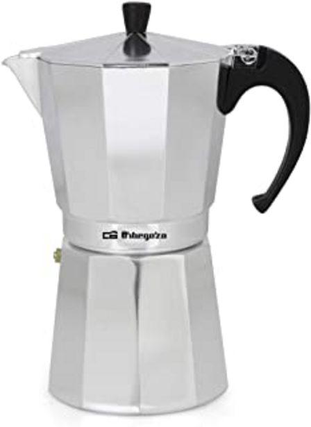 Oferta de Cafetera italiana ORBEGOZO KF1200 | ORBEGOZO 12 tazas Vitro Gas Electrico por 11,9€