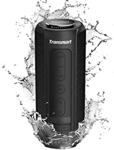 Oferta de Tronsmart T6 Plus Altavoces Bluetooth 40W, Altavoz Portatiles Waterproof IPX6 con Powerbank, 15 Horas de Reproducción, Son... por 56,09€