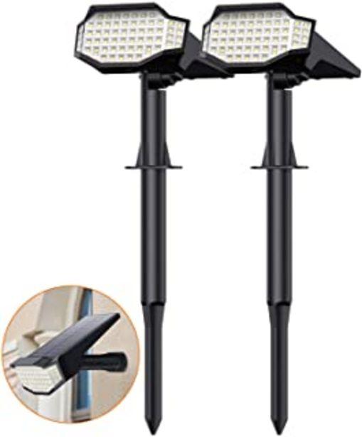 Oferta de HETP Luz Solar Exterior Jardín?Instalación 2 en 1 - Lámpara de Pared y Estaca?2 Paquete 2200mah Foco led Exterior Solar Lu... por 27,95€