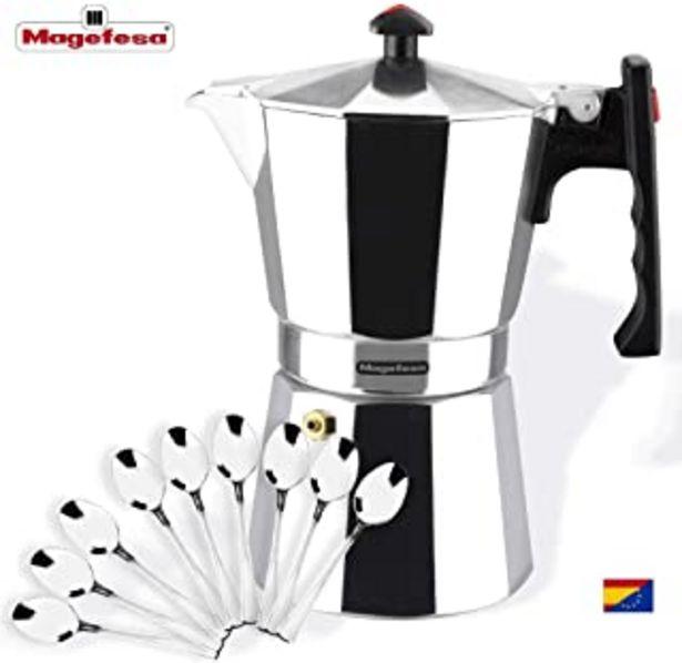 Oferta de MAGEFESA Colombia – La cafetera MAGEFESA Colombia está Fabricada en Aluminio Extra Grueso. Pomo y Mangos ergonómicos de bakelita Toque Frio. (Aluminio, 9 Tazas + CUCHARILLAS) por 18,99€