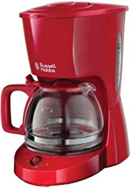 Russell Hobbs Textures Cafetera de Goteo (Jarra Cafetera para 10 Tazas, Plástico Mate, 975W, Rojo) ref. 22611 56