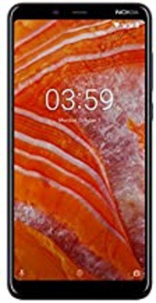 """Oferta de Nokia 3.1 Plus - Smartphone de 6"""" (4G, Mediatech Helio P22, RAM de 3 GB, Memoria de 32 GB, cámara Dual de 13+5 MP, Android One) Color Azul por 124,81€"""
