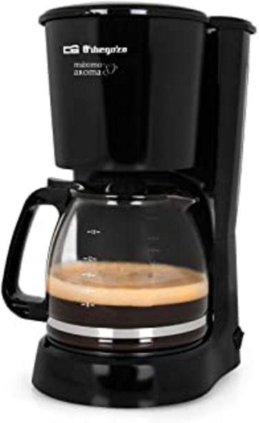 Oferta de Orbegozo CG 4024 - Cafetera goteo, capacidad para 15 tazas, jarra de crital de 1,6 litros, 800 W de potencia por 23,95€