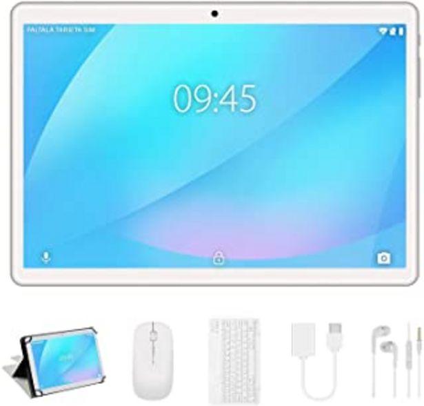 Oferta de Tablet 10 Pulgadas, Android 9.0 YESTEL Tablets, 4 GB de RAM, 64 GB Ampliables hasta 128 GB, Procesador Quad-Core, Pantalla... por 108,98€