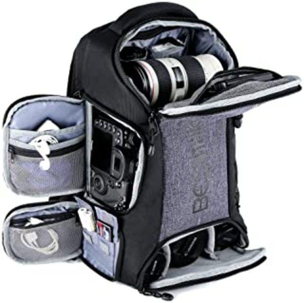 """Oferta de Beschoi - Mochila Fotografía para Cámara Réflex Nikon Canon Sony Tripode Tablet 11""""con Funda de Lluvia por 49,39€"""