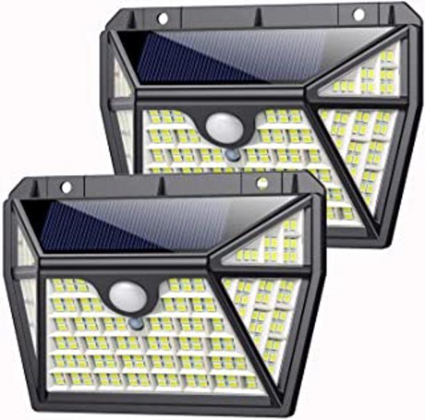 Oferta de Luz Solar Exterior 210LED, AOPAWA [Actualizada 2000 Lúmenes] Foco Solar con Sensor de Movimiento Lámpara Solar Exterior Im... por 25,94€