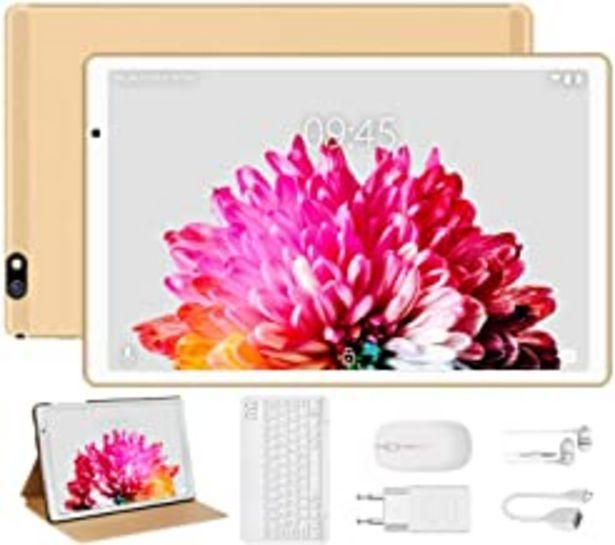 Oferta de Tablet 10 Pulgadas FACETEL Q3 Android 9.0 4GB de RAM y 64 GB de ROM,5MP+8MP Cámara Tablet PC Batería de 8000mAh,Certificación Google gsm,WiFi,GPS,OTG,FM,Bluetooth-Oro por 116,99€