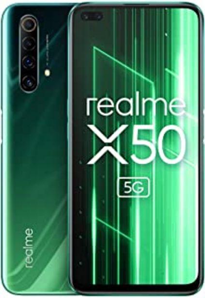 """Oferta de Realme X50 5G, Smartphone de 6.57"""", 6 GB RAM 128 GB ROM, Procesador Snapdragon 765G Platform, cuádruple cámara AI de 48MP,... por 296,65€"""
