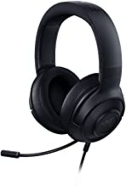 Oferta de Razer Kraken x 7.1 Auriculares Gaming con Sonido Envolvente con Compatibilidad Multiplataforma, Ergónomico y ligero; 250 g peso, Color Negro por 49,99€