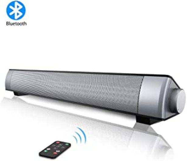 Oferta de VersionTECH. Barra de Sonido PC Altavoz con Cable e Inalámbrico Bluetooth, Altavoz Estéreo con Control Remoto, SoundBar US... por 29,99€