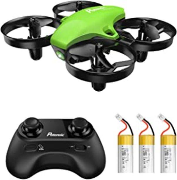 Oferta de Potensic Mini Drone RC Helicopter Quadcopter para Niños y Principiantes con Control Remoto, Modo sin Cabeza, Altitude Hold... por 39,99€