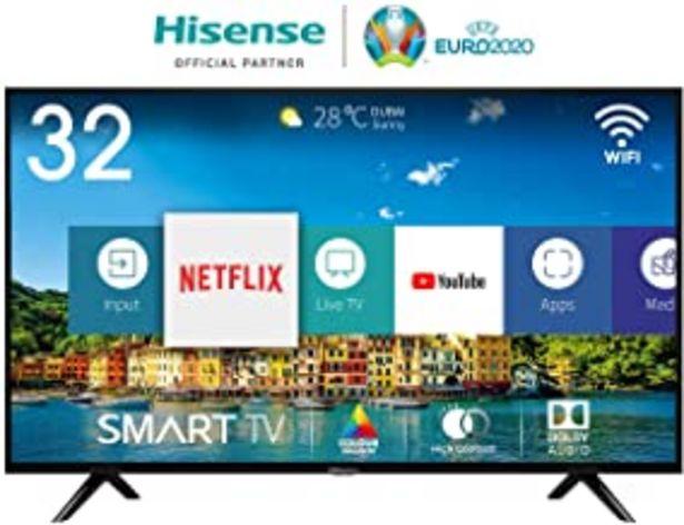 Oferta de Hisense H32BE5500, Smart Tv, 1, Negro [Clase de eficiencia energética A+] por 221€