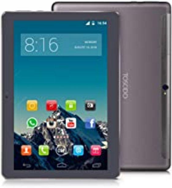 Oferta de TOSCIDO 4G LTE Tablet 10 Pulgadas - Android 9.0 Certificado por Google GMS,4GB RAM,64GB ROM,Octa Core 2GHz CPU de Alta Velocidad,Doule Sim,WiFi,Doble Altavoz Estéreo - Negro por 125,98€