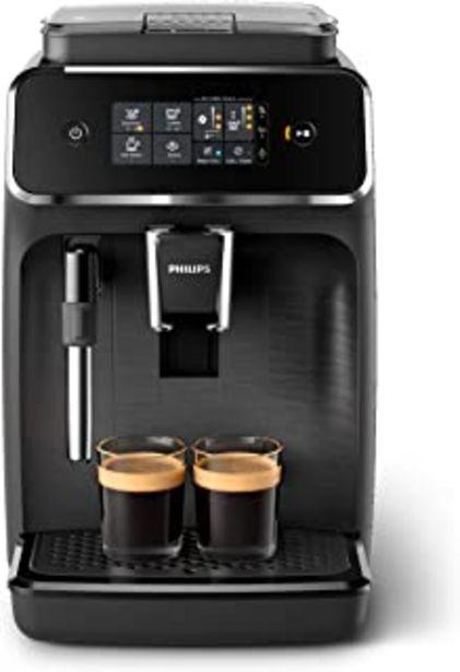 Oferta de Philips EP2220/10 Cafetera superautomática, Acero Inoxidable, Negro Mate por 279,2€