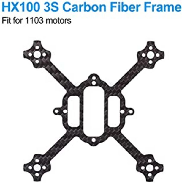 Oferta de BETAFPV HX100 Mini FPV Racing Toothpick Frame of Carbon Fiber 100mm for HX100 3S Brushless Racing Whoop Drone Toothpick Carbon Fiber por 9,99€