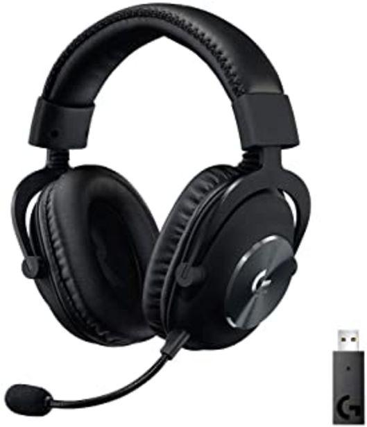 Oferta de Logitech G PRO X Auriculares Inalámbricos Lightspeed Gaming, Micrófono Blue Voice, 50mm Pro-G Drivers, DTS X 2.0 Sonido En... por 158,99€