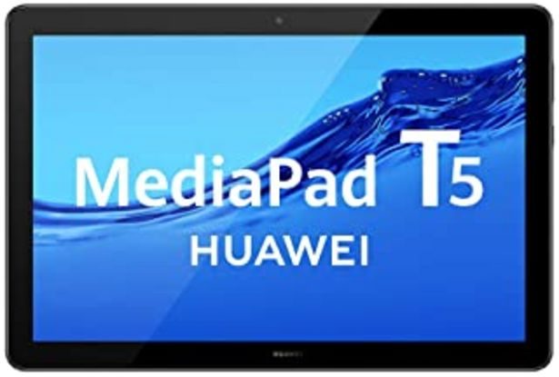 "Oferta de HUAWEI MediaPad T5 - Tablet de 10.1"" FullHD (Wifi, RAM de 3GB, ROM de 32GB, Android 8.0, EMUI 8.0), Color Negro por 151,4€"