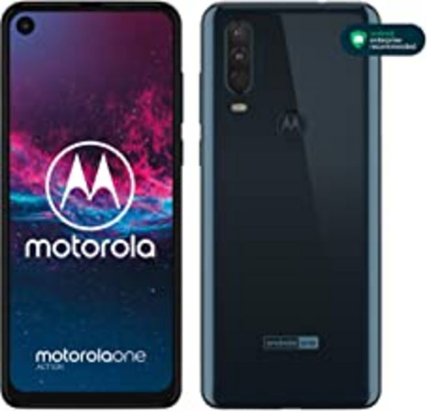 "Oferta de Motorola One Action - Smartphone Dual SIM (Triple cámara: 12 MP + 5 MP y video de 16 MP con ultra gran angular, 128 GB/4 GB, Pantalla 6,3"" FHD+, Android 9.0) - Color Azul Denim [Versión Española] por 189€"