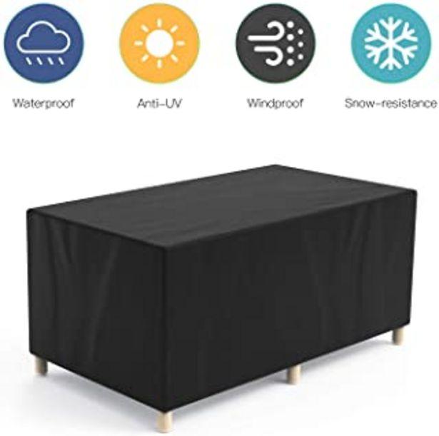 Oferta de Govvay Cubierta de Muebles de Jardín Funda Protectora para Muebles Impermeable Anti-UV 420D Oxford Protección Exterior Mue... por 17,99€